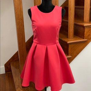 ASOS Fit & Flare Skater Dress, Hot Pink